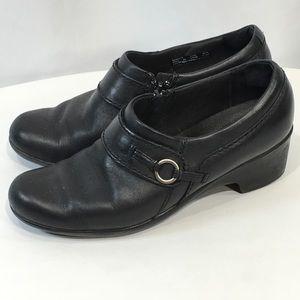 Clarks Ankle Bootie Zip Black Leather Comfort 7.5M